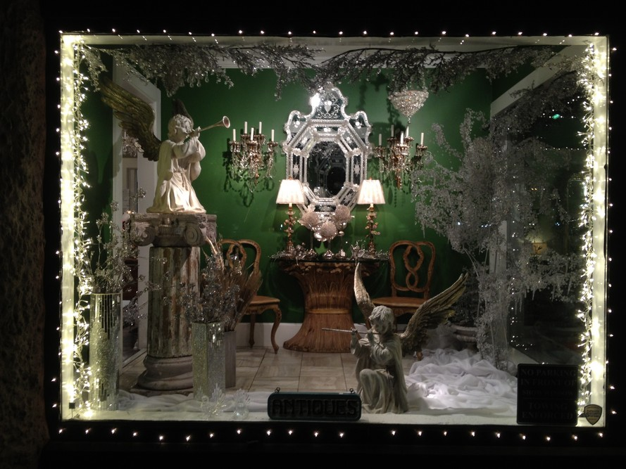 Christmas New York style holiday window